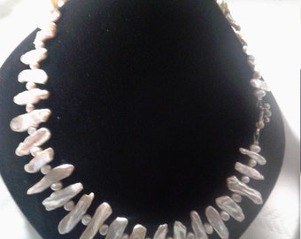 Lustrous baroque pearl necklace