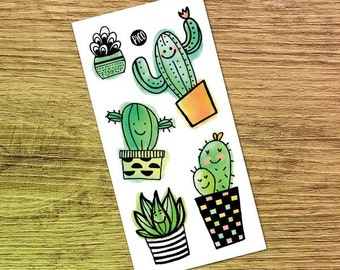 Temporary Tattoos - Cactus