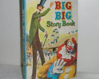 Vintage Hardcover Whitman #1673 BIG BIG Story Book 1955 - 10 1/2in x 7 1/2in