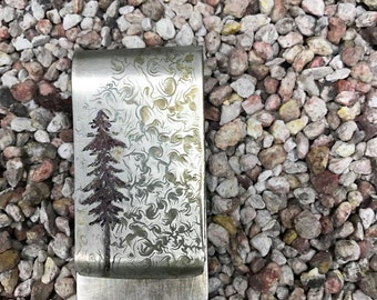 Tree swirl money clip