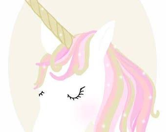 Pastel Pink Unicorn