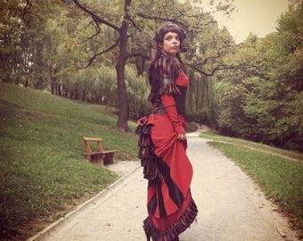 EUGENIA steampunk full costume COS play dress corset bolero shrug - free shipping!