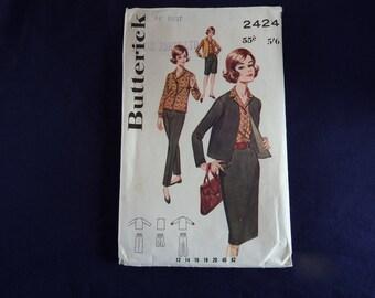 Vintage Pattern Butterick 2424 Bust 44''