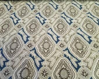 French General Moda Fabric Rue Indienne Fabric One Yard Cut / Half Yard Cut Sale.