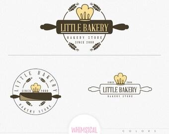 Retro Bakery Store Logo Design