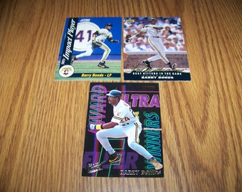 3 Vintage Barry Bonds (Pittsburgh Pirates) Baseball Card lot