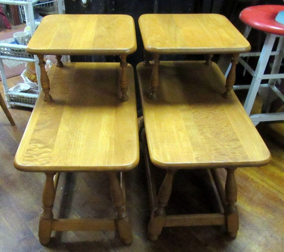 Maple end tables or night stands Colonial Craft