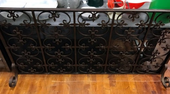 "Metal Fireplace Screen 53"" long"