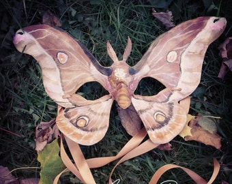 Custom Moth or Butterfly Leather Mask *Made to Order*