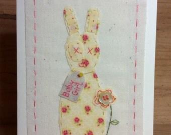New baby bunny girl card