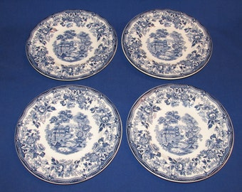 TONQUIN ROYAL STAFFORDSHIRE Dinnerware 1930s England Set of 4 Bread and Butter Plates