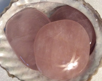 Rose Quartz Palm Smooth Touch Stone, Healing Stone, Love Stone, Spiritual Stone, Meditation,Healing Crystal, Chakra Stone