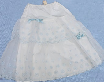 Vintage Slip Skirt - Blue and White