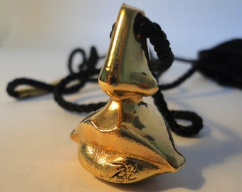 Beautiful vintage sculptural Necklace Salvador Dali, Nose & Lips,