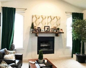 Luxury Velvet Curtains Emerald Green Window Treatments Drape