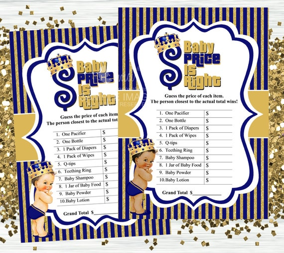Royal Prince Price Is Right Game Baby Shower Games Instant