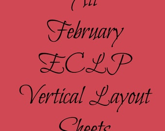 February Monthly Stickers for ECLP  |  All Sheets