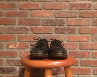 Vintage Black Dr. Martens 1461 Made in England Originals Size 8