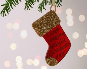 Christmas Stocking Decoration - Christmas Tree Decoration - Stocking Christmas Ornament - Hanging Christmas Stocking