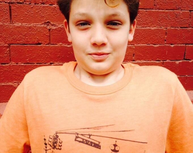 Short sleeve T shirt ADULT , 5 av. Brooklyn with aliens design  - FREE shipping