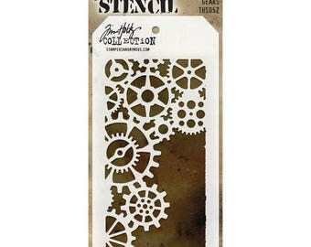 Tim Holtz Stencil  - GEARS Stencil Stampers Anonymous - THS052 Steampunk stencil - cc5x SS060