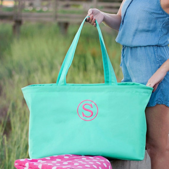 Mint Ultimate tote bag green oversized bag monogrammed tote bag beach bag pool bag summer bag monogrammed gift
