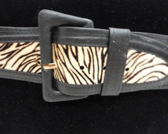 Vintage Animal Print Belt