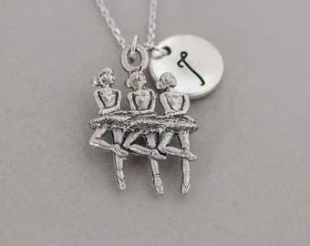 Sterling silver ballerina necklace, ballerina jewelry, Ballet Necklace, Silver Ballerina Necklace, Ballet Charm , ballerina gift