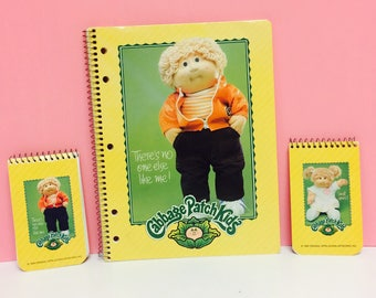 Vintage Cabbage Patch Kids, Spiral Notebook, CPK School Supplies, 1980s CPK, 1980s Cabbage Patch Collectible, 1980s Girl Toys, CPK Doll