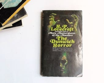 The Dunwich Horror by H.P. Lovecraft  (1969, Lancer Books) Vintage Horror Anthology Paperback Book