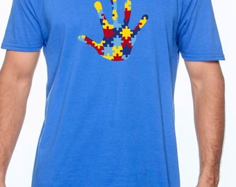 Autism Awareness Graphic Tee T-shirt; Embrace The Amazing; Asperger's;
