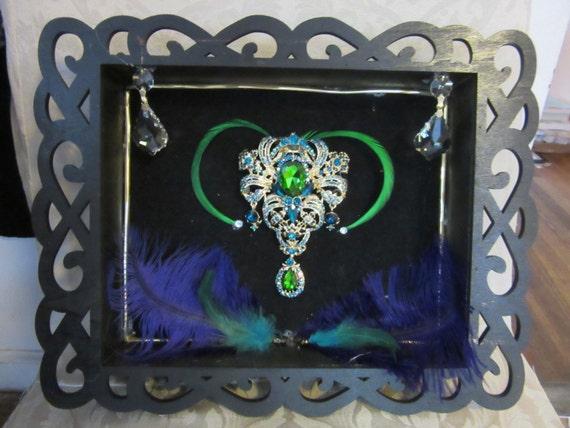 Handmade Jeweled Shadow Box Wall Hanging!
