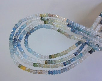 13.5-inch Natural Moss Aquamarine micro faceted beads size 4.5mm GW2494
