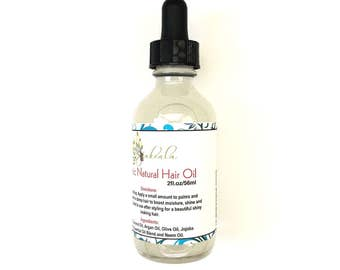 Hair Serum Natural  Herbal Oil - Hot Treatment Scalp -  Heat Sealant  - Itchy Scalp - Locs Growth Stocking Stuffer under 20 argan  - 2 OZ
