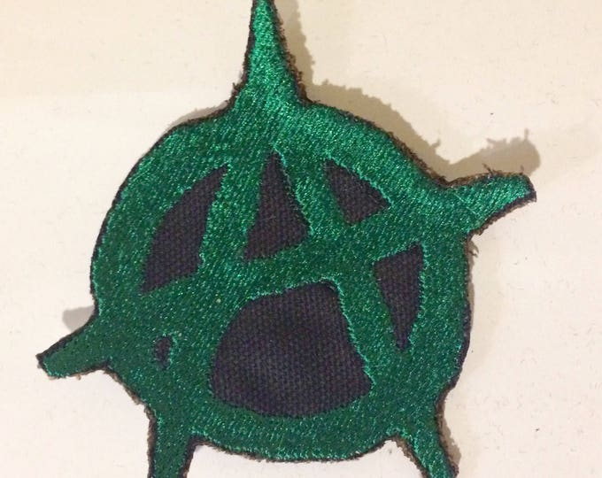 Anarchy Patch, Iron-On Patch, Sew-On Patch