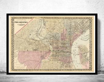 Old Map of Philadelphia 1880