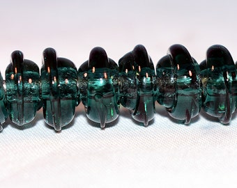 Handmade Borosilicate transparent glass spacer beads.