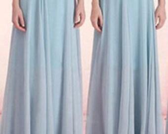 Blue Rain Maxi Chiffon Skirt