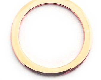 25mm ring gold plated sterling silver , gold on sterling flat large ring , gold plated silver 25mm circle.