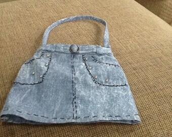 Darling denim little girl's purse.