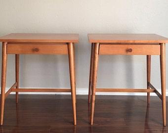 Pair of Mid-Century Paul McCobb Planner Group End Tables / Nightstands