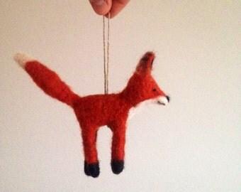 Needlefelted Fox // Wool // Woodland Ornament