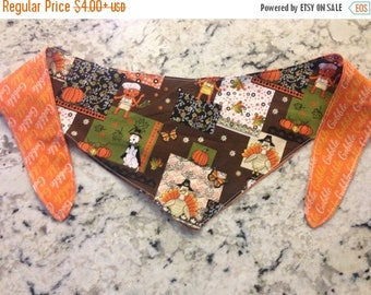 SPECIAL SALE EVENT Tie-on Dog Bandana Thanksgiving with Pets - Medium/Large/XLarge