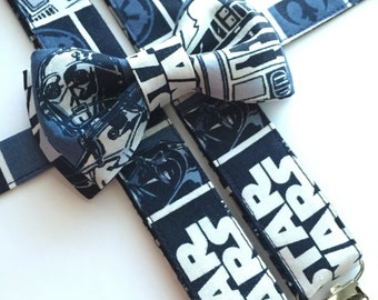 Star Wars Suspenders/ Bow Tie Set/Adults/Kids