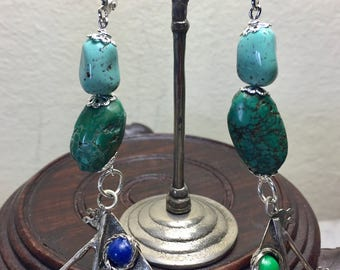 Sail Away with these Vintage Handmade Florentine Charm Earrings