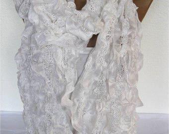 SALE! 9.90 USD -white Scarf, Trend Scarf- Fashion Scarf- Shawls-Scarves-Gift Scarf-Shawl-Christmas Gift