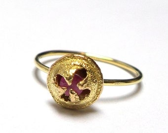 Seed Ring - Gold Ring - 18K Gold Ring - Ruby Ring - Seeds Collection - Free Shipping!!!
