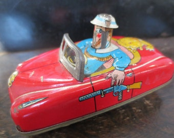 Torpeauto Race Car Dyno Head Press Down Lemezaru Gyar Hungary Tin Wind Up Toy