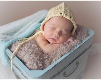 Newborn bonnet hat / Newborn summer hat cashmere silk cotton / baby bonnet hat / newborn photo prop / photography props newborn baby