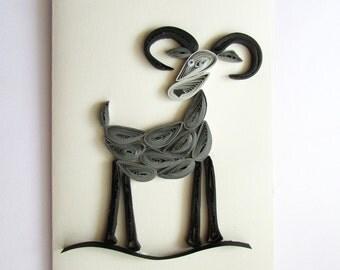 Capricorn Quilling Card, Zodiac Sign, Birthday Card, Zodiac Greeting Card, Zodiac art
